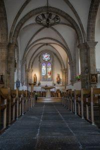 La nef de l'église Saint-Thomas à Bénodet