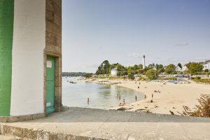 Le phare et la plage du Coq à Bénodet