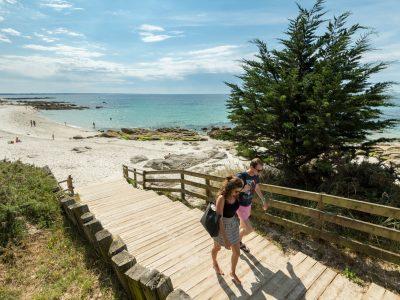 France, Finistere (29), Fouesnant, la plage des dunes à la pointe de Beg Meil