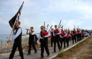 Défilé de la fête religieuse, le Pardon des Glénan