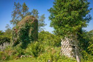 Les vestiges de la villa Cavardy à Saint-Evarzec