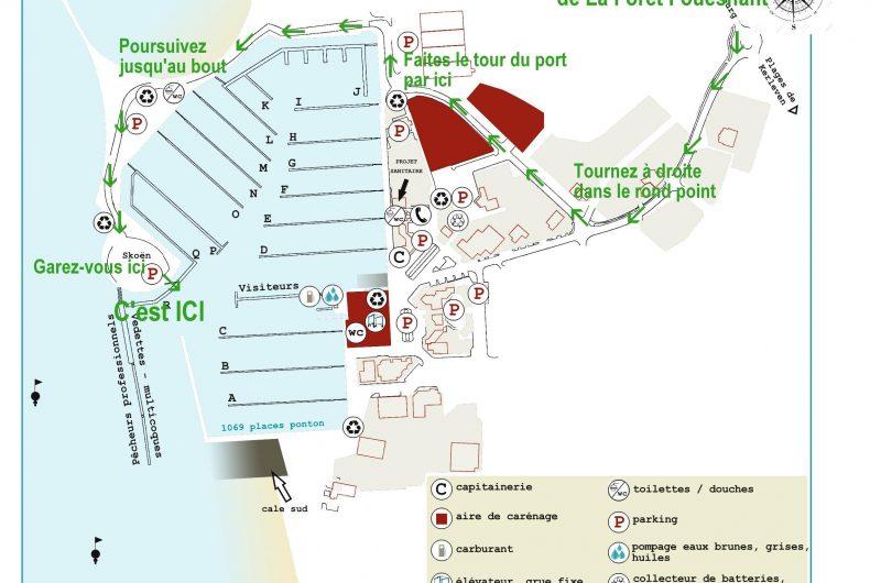 Plan – Port La Forêt